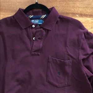Polo by Ralph Lauren burgundy long sleeve polo